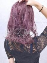 あざと可愛いピンクヘア